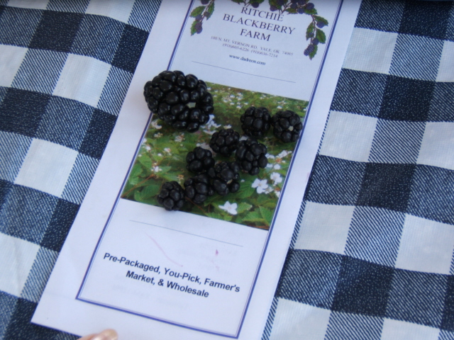 Compare size to native blackberries